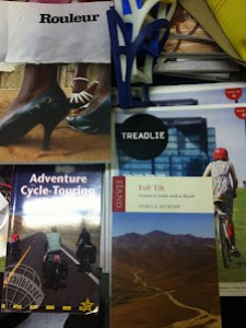Books and Magazines - Rouleur, Treadlie, Steven Lord's Adventure Cycle Touring Handbook, Derval Murphy - Full Tilt, Ireland to India with a Bicycle