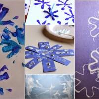Sněhové vločky - 12 nápadů jak malovat sněhové vločky s malými dětmi