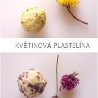 Květinové barvy a recept na plastelínu bez vaření