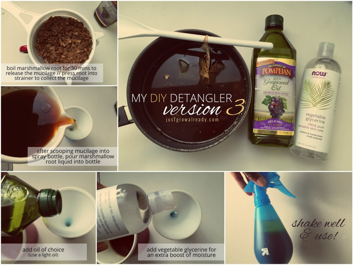 how to make detangling spray