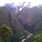 The Urubamba river valley.  Machu Picchu begins on the right with those terraces.