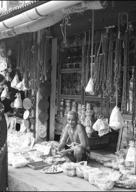 A brass-ware shop, Gokarna