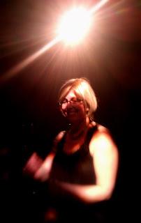 Trish under the club lights.
