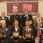 "2012 Dave Bartelma Hall of Fame inductees. Front (L-R): Gary Alexander, Luke Becker, Jeff ""Bro"" Olsen, Chuck Ofsthun. Back (L-R): Dean Hiscocks, Bill Hinchley, Duane Koslowski, Howard Schultz."