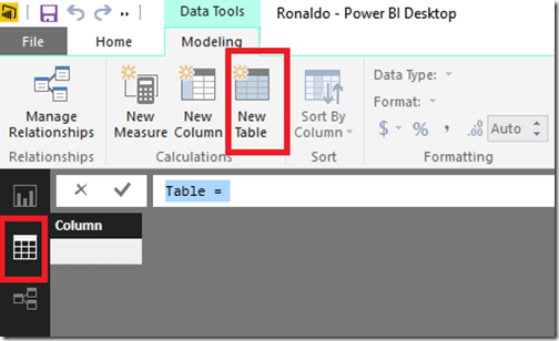Calculated table in Power BI