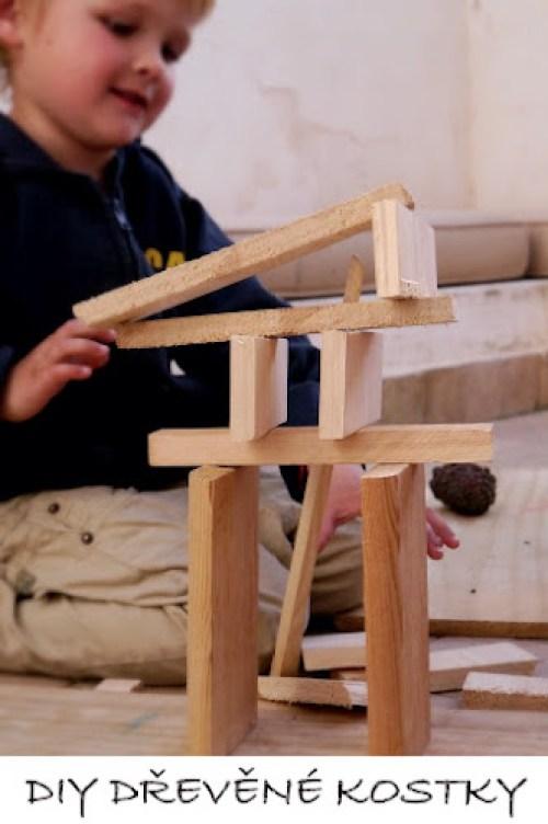 DIY dřevěné kostky pro děti