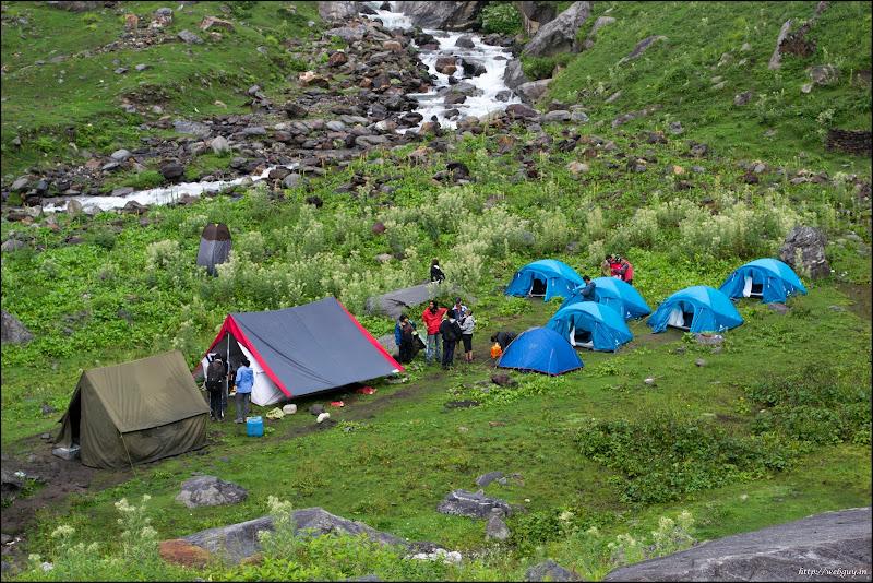 Out camp at Chikka, Hampta Pass Trek