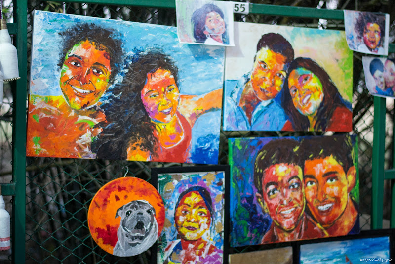 Beautiful Paintings at exhibition - Open Streets, Bangalore
