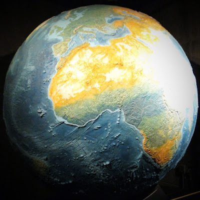 Earth model at the Griffith Observatory, Los Angeles, November 2012