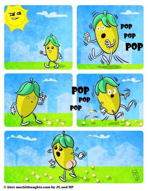 Cute Comics, Popcorn Surprise