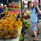Our tween looks at fruits she would never eat.