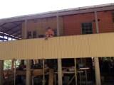 New veranda with workshop temporarily exposed underneath