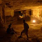 Taking a break, deep in Zedekiah's cave, Jerusalem.