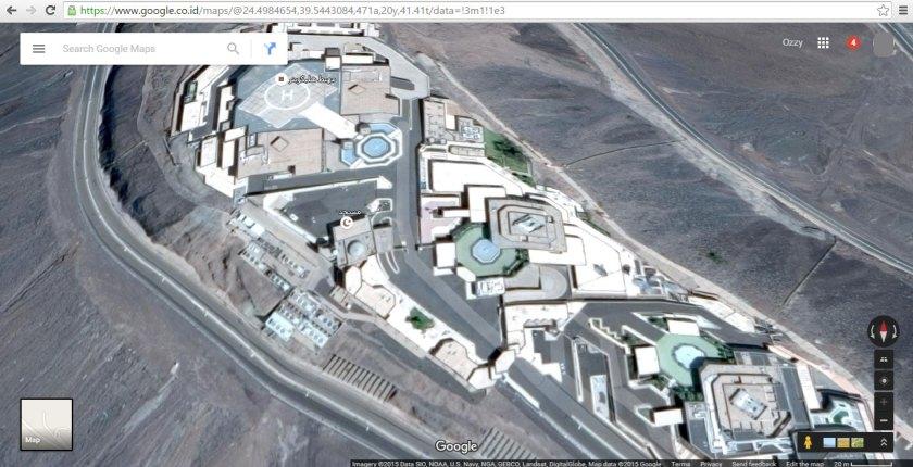 Kingdom Palace di Jabal Habsyi (tampak atas), terletak 7 km dari kota Madinah Al-Munawwarah, Arab Saudi