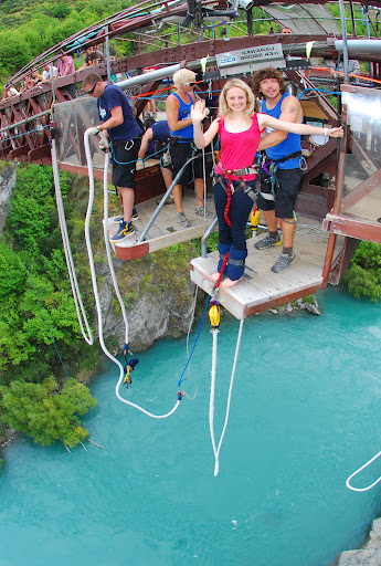 Bungy jumping in New Zealand, from Kawarau Bridge, near Queenstown