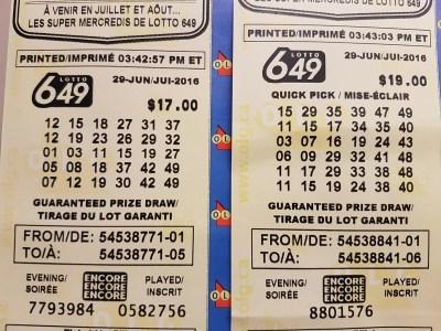 Shannon's Group Lottery: Lotto 6/49 - June 29, 2016 - July 2, 2016 - Closed