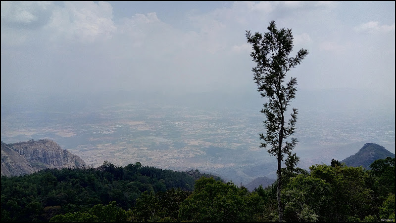 The Plains of Salem below, Yercaud lady's seat