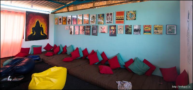 The common room, Zostel Gokarna