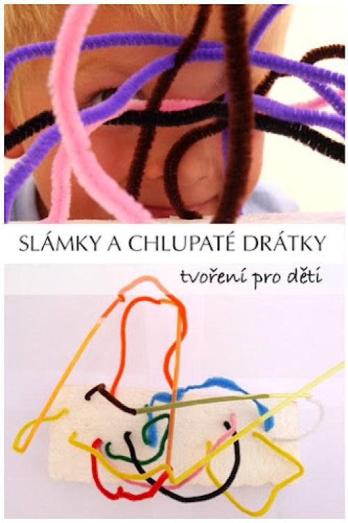 Tvoření pro děti chlupate drátky