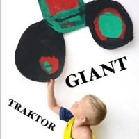 Jak namalovat obří traktor - projekt zrozený z dětské fantazie