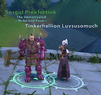 The original pink dye wasn't exactly Pink.  (But Sorgul looks great in lavender anyway!)