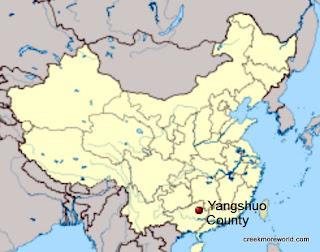 Yangshuo, map