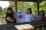 USA, Smith Mountain Lake, VA - Panna Laurie, Nadia i jej ryba (Fot. Agnieszka Bajan)