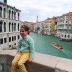Lily on Rialto bridge doing a Kid reporter
