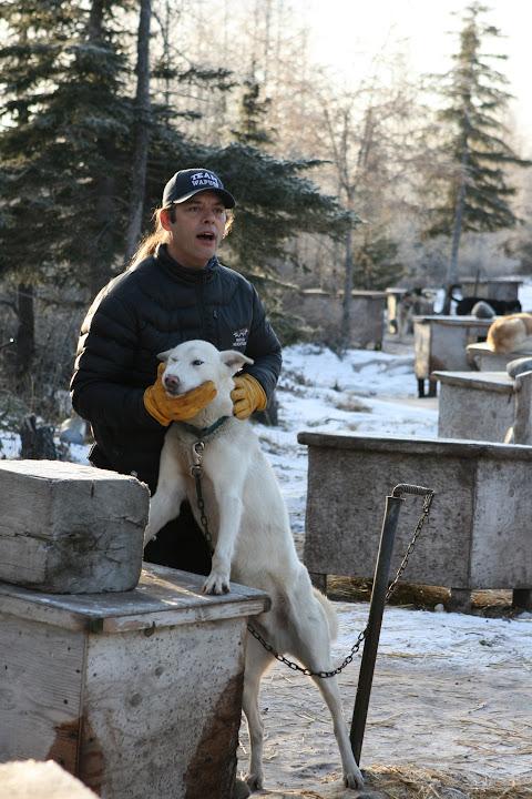 Dave Daley mit einem seiner Hunde