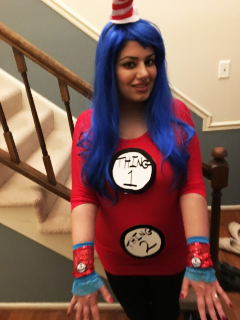 Large Of Thing 1 And Thing 2 Costume