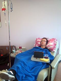 Trish getting the Chemotherapy.