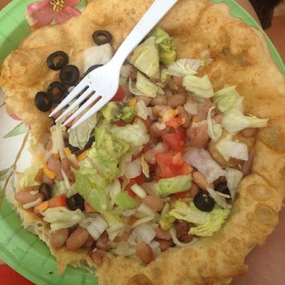 Post-Race Navajo Taco Yum!