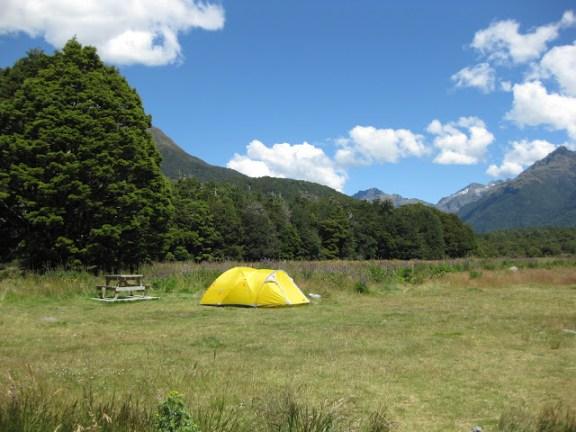 Cascade Creek campsite, Fjordland
