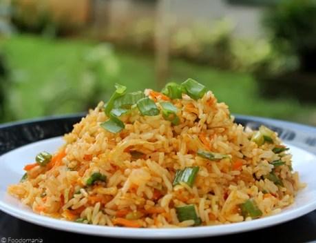 Schezwan Fried rice Recipe   Chinese style Spicy Veg fried rice