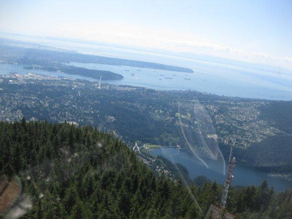 Views from the helicopter onto North and West Vancouver