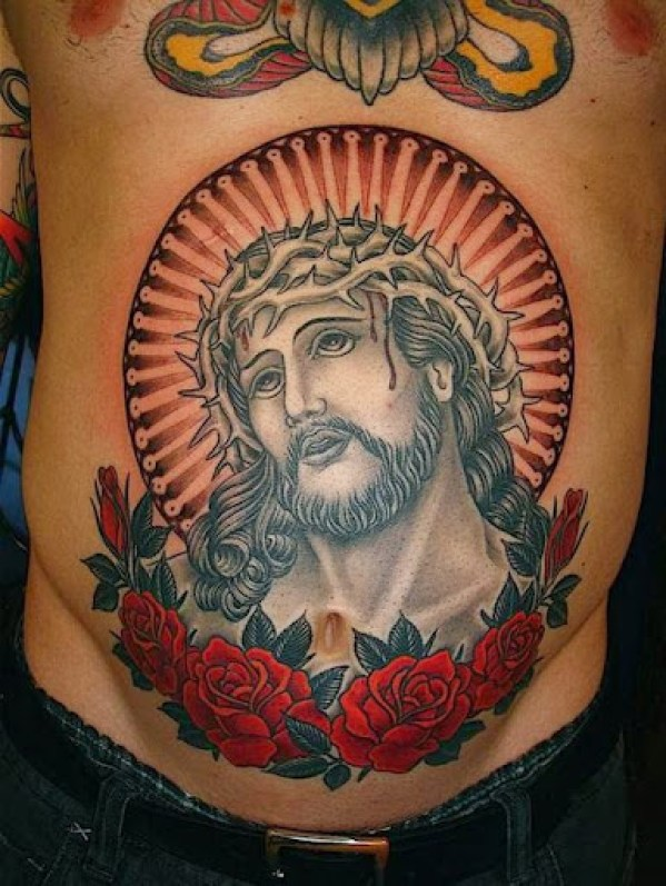 jesus tattoos for men chest