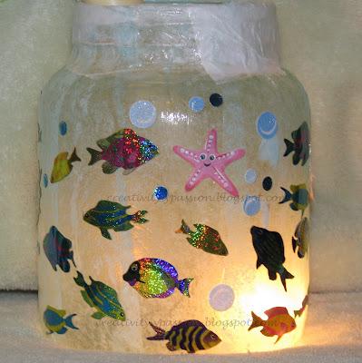 Fish Tank Aquarium Fun   Recycled Glass Jar   Craft To Art