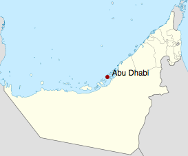 Location of Abu Dhabi in the UAE