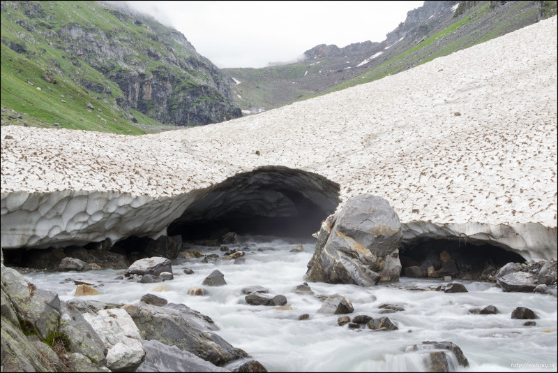 glacier at Balu ka Gera Hampta Pass Trekking