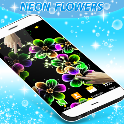 Neon Flowers Live Wallpaper - Android Apps on Google Play