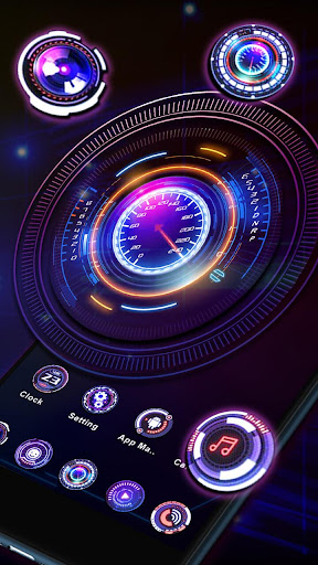 Neon Car Hologram Launcher Theme Live Wallpapers Mod Apk Unlimited Android - apkmodfree.com
