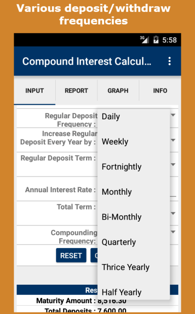 Compound Interest Calculator - Android Apps on Google Play