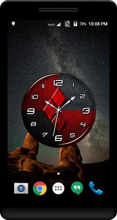 Red Clock Live Wallpaper - Android Apps on Google Play
