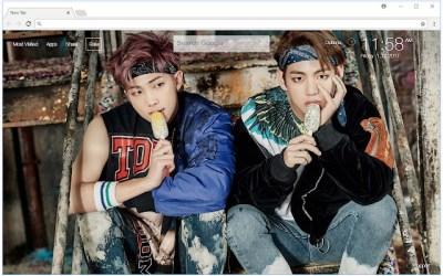 Kim Taehyung V HD Wallpaper BTS New Tab | HD Wallpapers & Backgrounds