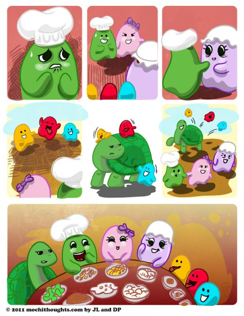 Cute webcomic, Meeting Ms. Mochi's Mother