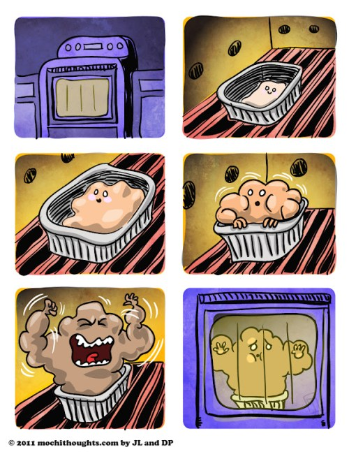 Cute Food Comic, Bread Rising