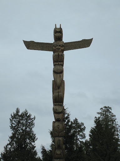 Totem Poles in Stanley Park, Vancouver, Canada