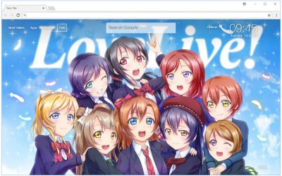 Love Live Wallpapers HD New Tab Themes - Free Addons