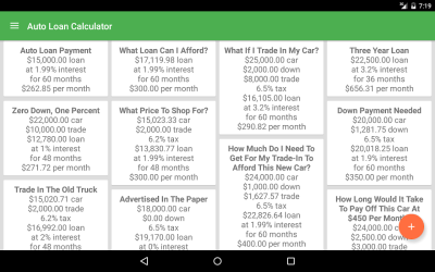 Auto Loan Calculator - Android Apps on Google Play