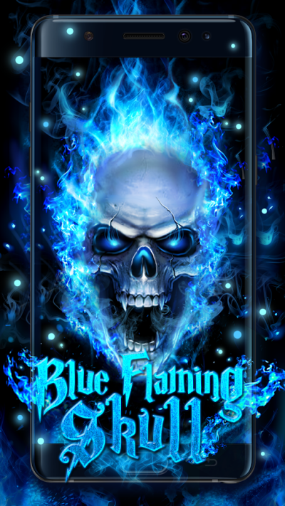 Blue Fire Skull Live Wallpaper - Android Apps on Google Play